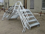 GALVANIZED CONTAINMENT WALL STAIRWAY